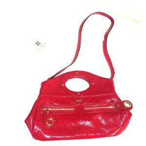 Kate Spade patent leather red shoulder bag